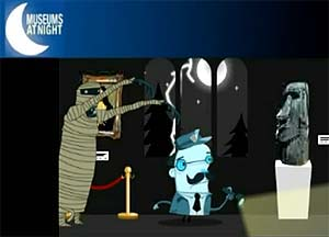 Kanoti's Animation for Museums at Night 2009