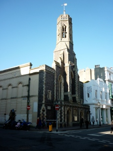 A photo of a converted church in a city centre