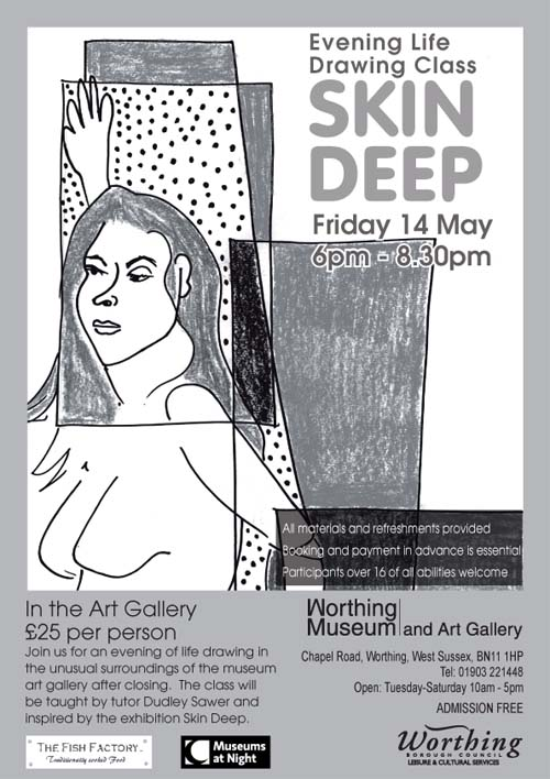 A poster for a life drawing event