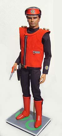 A toy Captain Scarlet figure