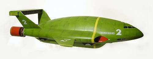 A green toy rocket