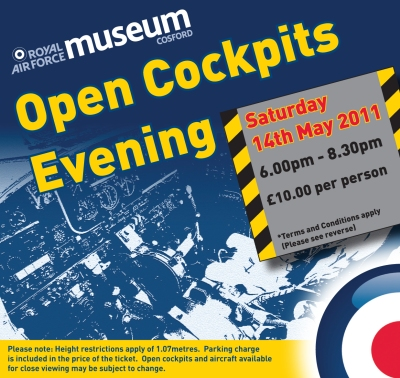 A blue ticket for Open Cockpits Evening