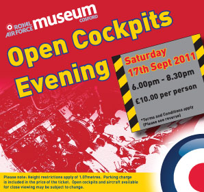 A red ticket for Open Cockpits Evening in September 2011