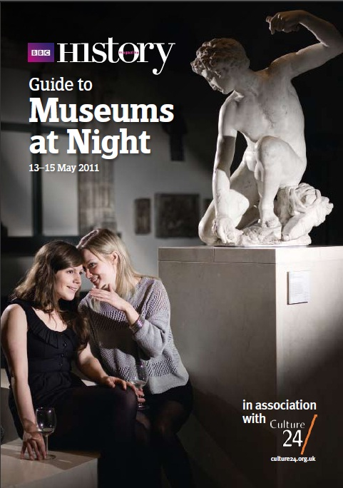 The front cover of a brochure about Museums at Night 2011