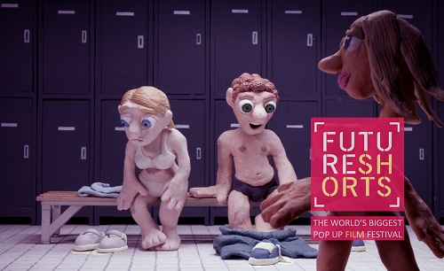 Plasticine characters in swimsuits