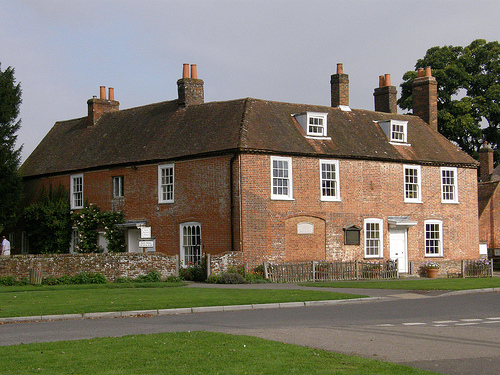 A large red brick seventeenth century house