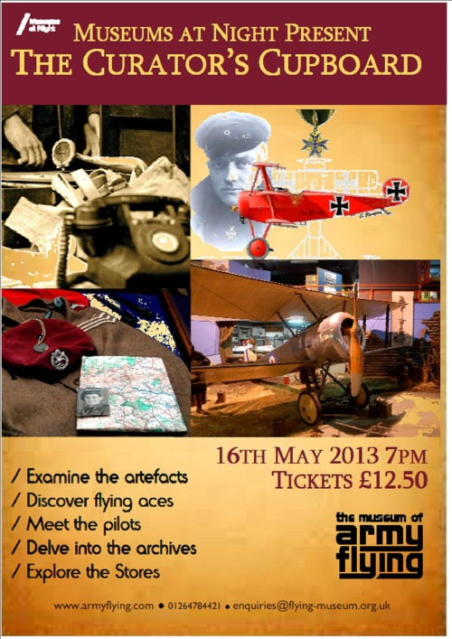 A poster for an event with images of wartime aircraft