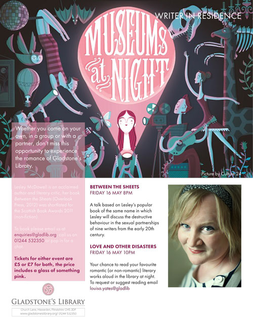 A flyer to promote Gladstone Library's Museums at Night event