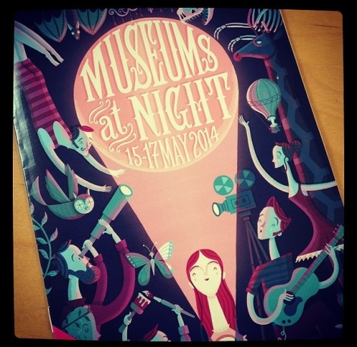 A photo of the Museums at Night 2014 brochure front cover